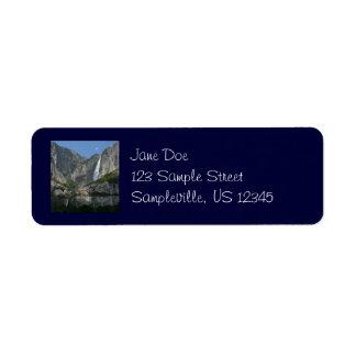 Etiqueta del remite de las cataratas de Yosemite Etiqueta De Remite