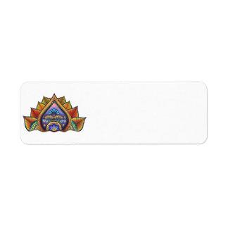 Etiqueta del remite de las hojas etiqueta de remite