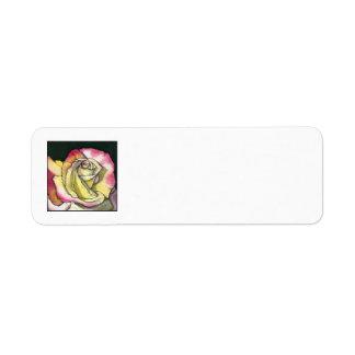 Etiqueta del remite de las memorias etiqueta de remite