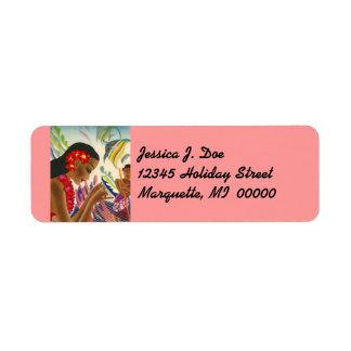 Etiqueta del remite de las vacaciones de Hawaii Etiqueta De Remite