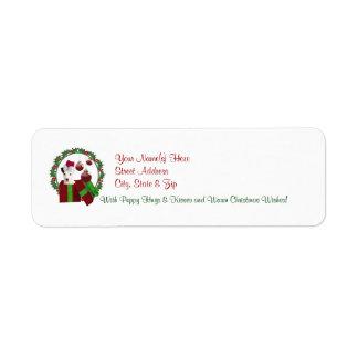Etiqueta del remite de los deseos del navidad de etiquetas de remite