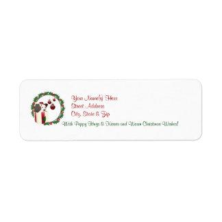 Etiqueta del remite de los deseos del navidad de J Etiquetas De Remite
