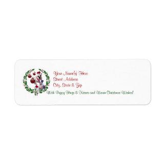 Etiqueta del remite de los deseos del navidad del  etiquetas de remite