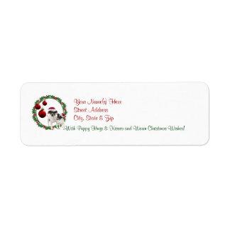 Etiqueta del remite de los deseos del navidad del  etiqueta de remitente