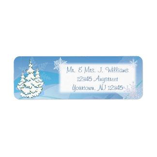 Etiqueta del remite de los elementos del navidad d etiquetas de remite