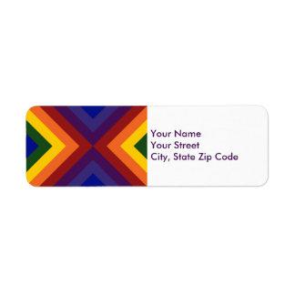 Etiqueta del remite de los galones del arco iris etiquetas de remite