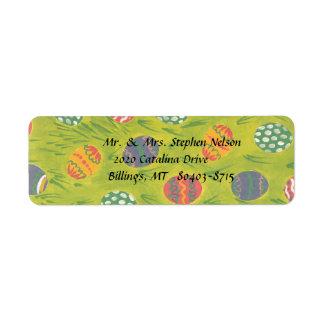 Etiqueta del remite de los huevos de Pascua Etiquetas De Remite