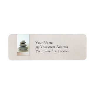 Etiqueta del remite de los ZENES Stone Etiqueta De Remitente