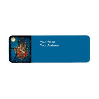 Etiqueta del remite de Radha Krishna2 Etiqueta De Remite