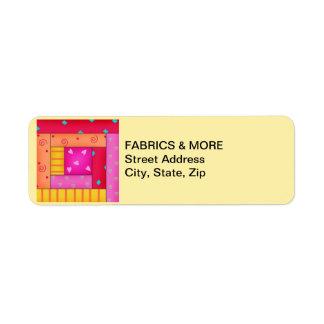 Etiqueta del remite del amarillo del bloque del etiqueta de remite