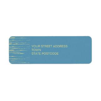Etiqueta del remite del azul de acero etiqueta de remite