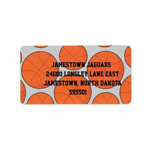 Etiqueta del remite del baloncesto etiquetas de dirección