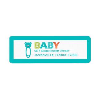 Etiqueta del remite del bebé del Clothespin Etiquetas De Remite