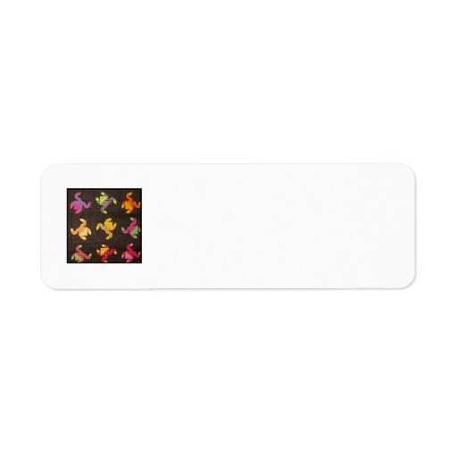 Etiqueta del remite del bloque C del edredón Etiquetas De Remite