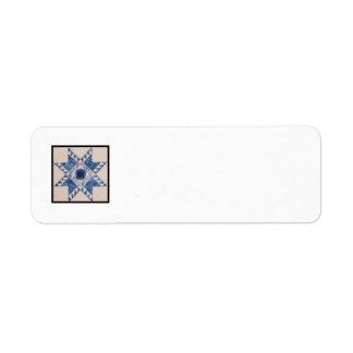 Etiqueta del remite del bloque D del edredón Etiquetas De Remite