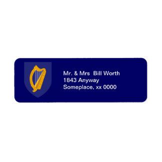 Etiqueta del remite del COA de Irlanda Etiquetas De Remite