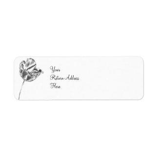 Etiqueta del remite del cromo del tulipán etiqueta de remitente