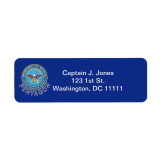 Etiqueta del remite del DOD Pentágono Etiquetas De Remite