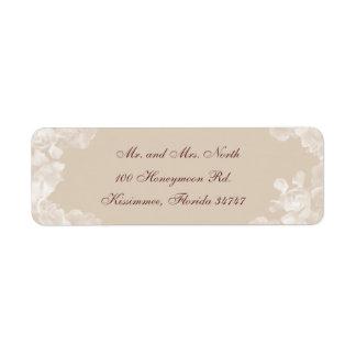 Etiqueta del remite del Gardenia del vintage Etiqueta De Remite