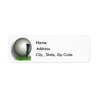 Etiqueta del remite del golf etiqueta de remite