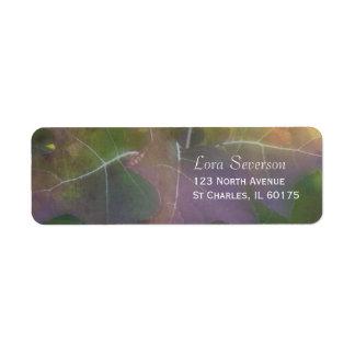 Etiqueta del remite del Hydrangea de la hoja del r Etiquetas De Remite