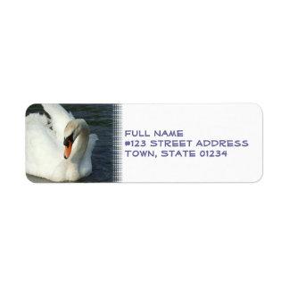 Etiqueta del remite del lago swan etiquetas de remite