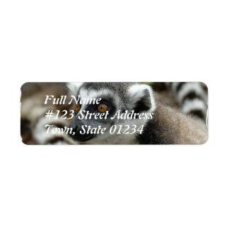 Etiqueta del remite del Lemur Etiqueta De Remite