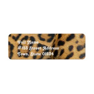 Etiqueta del remite del modelo de Jaguar Etiqueta De Remite