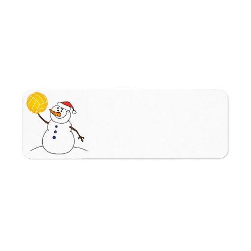 Etiqueta del remite del muñeco de nieve del water etiquetas de remite