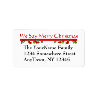 Etiqueta del remite del navidad etiqueta de dirección