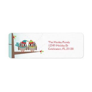 Etiqueta del remite del navidad de los pares del etiqueta de remitente