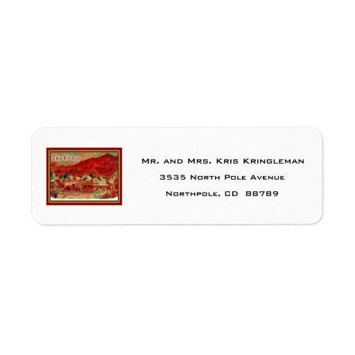 Etiqueta del remite del navidad de Tubac del Etiqueta De Remitente