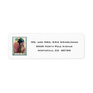 Etiqueta del remite del navidad del nativo etiqueta de remite