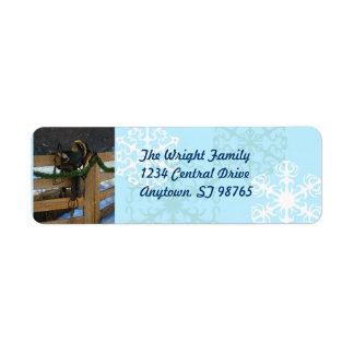 Etiqueta del remite del navidad del país etiquetas de remite