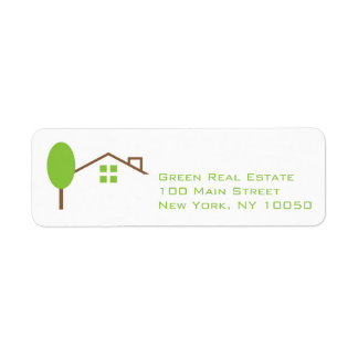 Etiqueta del remite del negocio de las propiedades etiqueta de remite