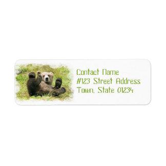 Etiqueta del remite del oso del bebé etiquetas de remite