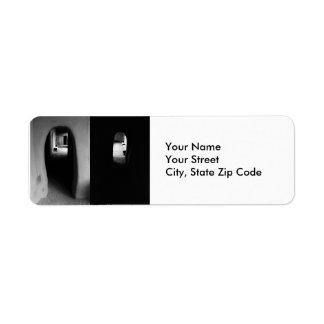 Etiqueta del remite del pasillo de Adobe Etiqueta De Remite