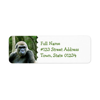 Etiqueta del remite del perfil del gorila etiquetas de remite