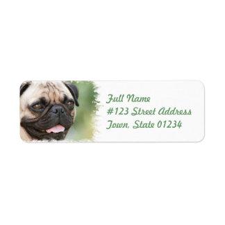 Etiqueta del remite del perro del barro amasado etiquetas de remite