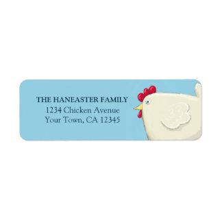 Etiqueta del remite del pollo de Pascua del arte p Etiquetas De Remite
