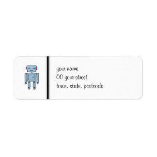 Etiqueta del remite del robot del juguete etiqueta de remite