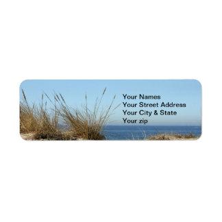 Etiqueta del remite del tema de la playa etiqueta de remite