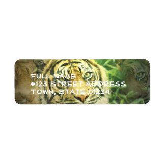 Etiqueta del remite del tigre siberiano etiqueta de remite