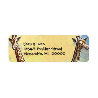 Etiqueta del remite del viaje del safari de los cu etiquetas de remite