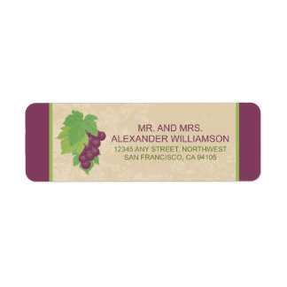 Etiqueta del remite del viñedo (textura del etiquetas de remite