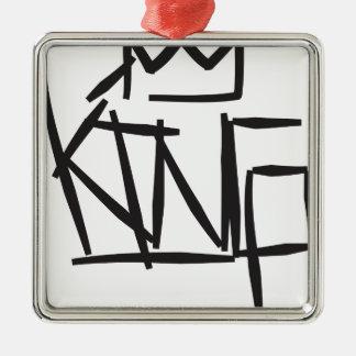 etiqueta del rey adorno navideño cuadrado de metal