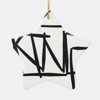 etiqueta del rey adorno navideño de cerámica en forma de estrella