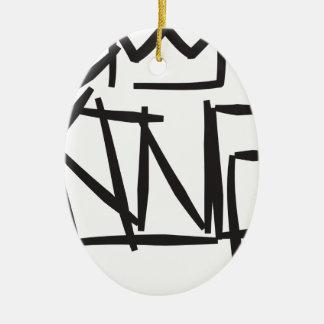 etiqueta del rey adorno navideño ovalado de cerámica