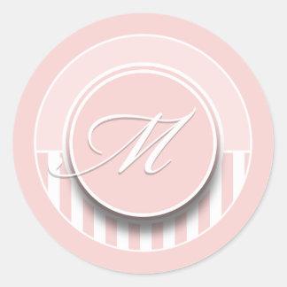 Etiqueta del sello del pegatina de la inicial M de