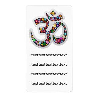 Etiqueta del símbolo de la yoga de OM Aum Namaste Etiquetas De Envío